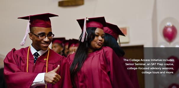 The College Access Initiative includes Senior Seminar, an SAT Prep course.