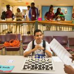 TMA male student with chess board